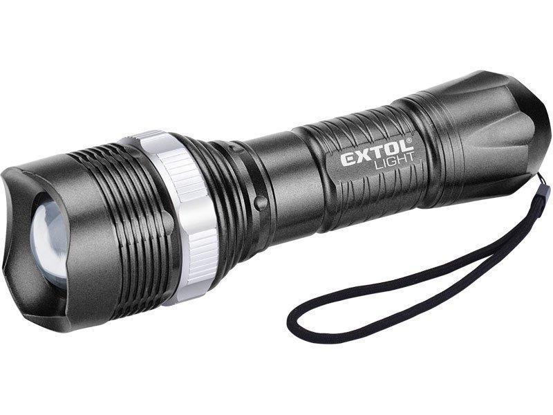 Svítilna 1x1W LED dioda ZOOM 3xAAA Extol Light 43116
