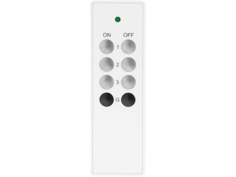 Ovladač 3+1 na dálkově ovládané zásuvky a objímky Extol Light 43820