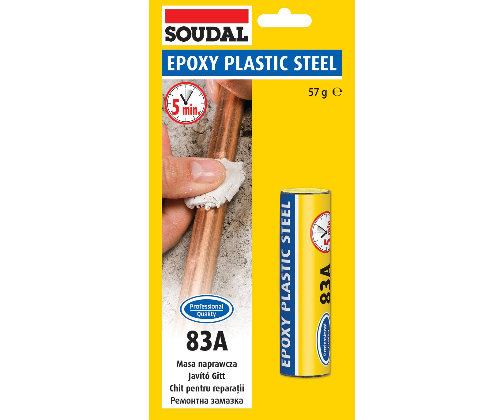 Tmel Epoxy Plastic Steel 83A 50g Soudal