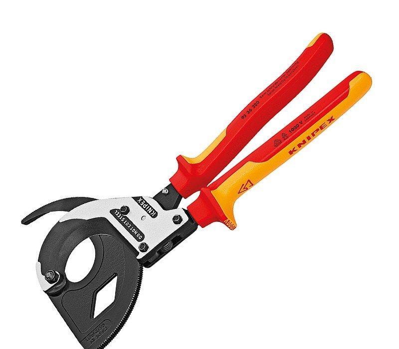 Kleště na kabely ráčnové VDE Knipex 95 36 320
