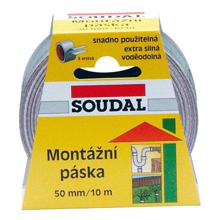 Páska montážní 50mm Soudal - 50m černá