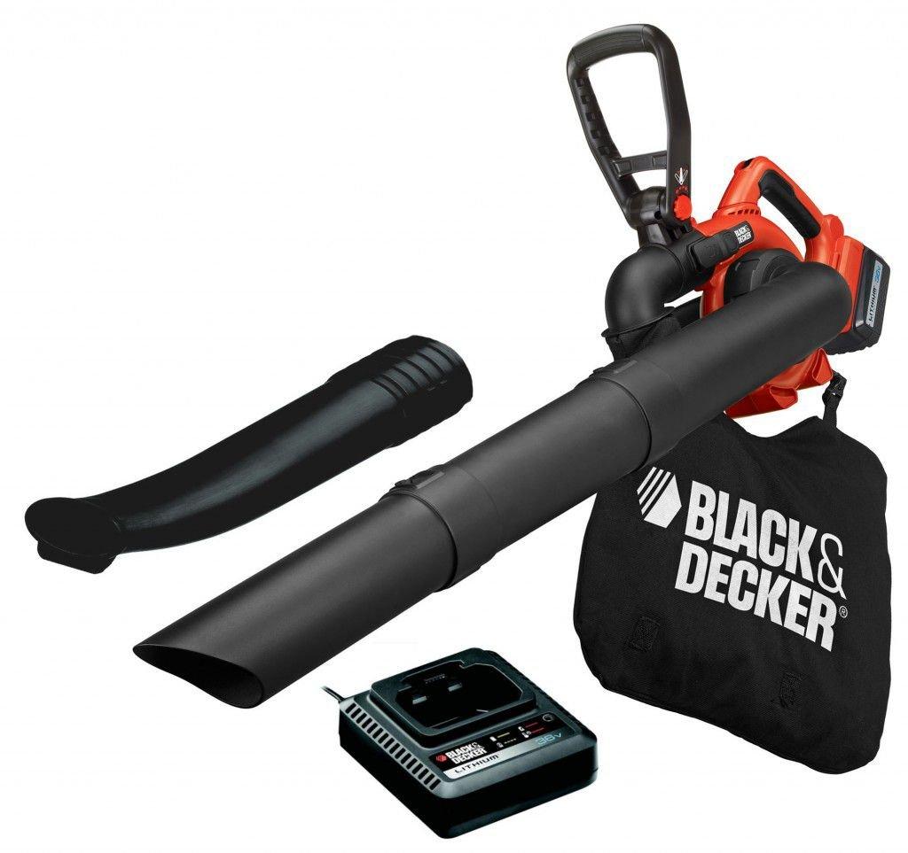 Black&Decker GWC3600L20 aku zahradní fukar/vysavač 36V 2Ah