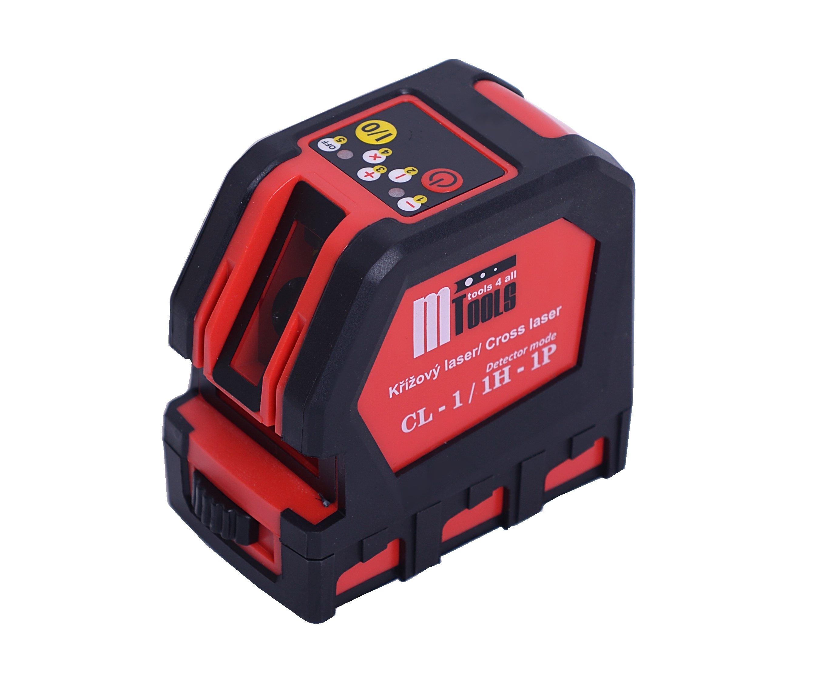Laser křížový červený mTools CL-1