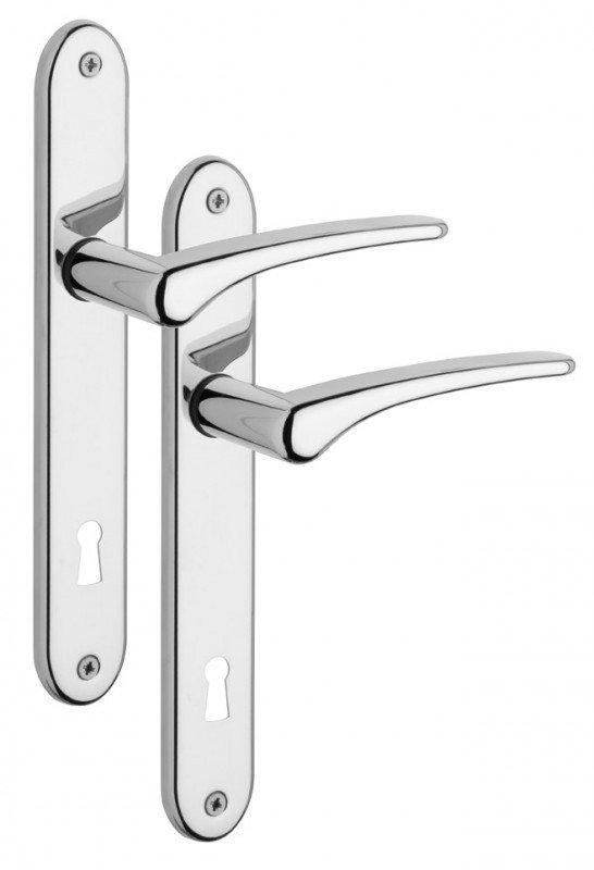 E-shop Rostex Sonet štítové dveřní kování - klika - knoflík pro klíč 72mm Ti